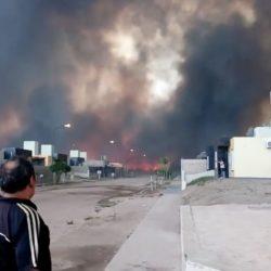 San Luis: hay evacuados en La Punta por el fuego y el humo. Videos