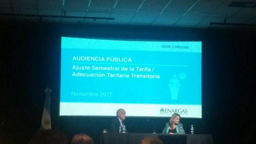 Usuarios sanrafaelinos representados en la audiencia pública por el gas, en Córdoba