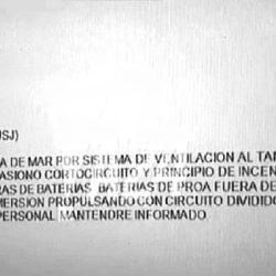 El último mensaje del submarino ARA San Juan
