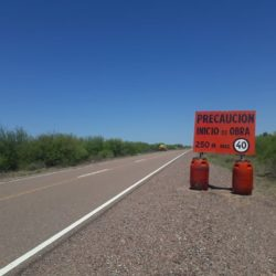 Ruta 153 interrumpida en Ñacuñan