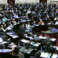 Sesión en vivo en la Cámara de Diputados de la Nación