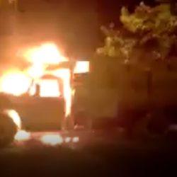 Se incendió un camión en Alvear Video