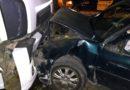 Periodista chocó con su auto frontalmente
