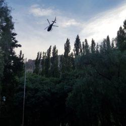 Helicóptero sobrevoló Valle Grande