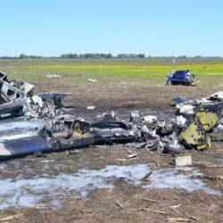 Murieron cinco ocupantes de un avión en La Pampa