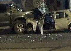 Conductor ebrio embistió una camioneta